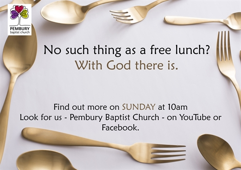 No such thing as a free lunch With God there is